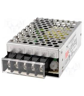 Fonte de alimentação industrial 12VDC 2.1A 25W - RS25-12