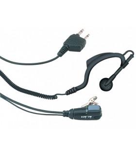Midland MA-21K Auricular com suporte de orelha + micro/PTT - MA21