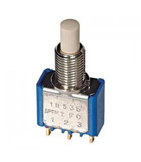Interruptores tipo botão de pressão SPDT On-Mom 0.1A 30VDC - 91413435A
