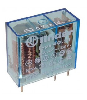 Rele Finder 6V 10A 1C - F4051610