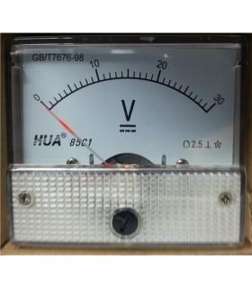 Voltimetro 0-30Vdc - 63,5x56mm - V30V