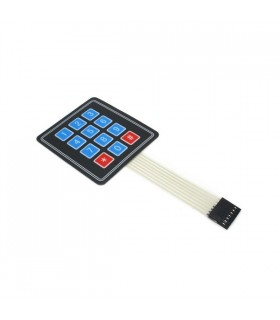 MX120726002 - Sealed Membrane 4X3 Button Pad with Sticker - MX120726002