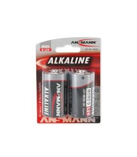 Pack 2 Pilhas Alcalinas LR14 -  Ansmann - 15140000
