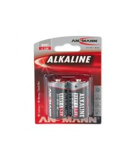 Pack 2 Pilhas Alcalinas LR14 -  Ansmann - 15130000