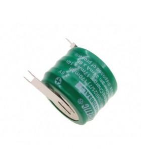 Bateria 3.6V 170mAh com Pinos p/Soldar em Circuito Impresso - 1693GP170
