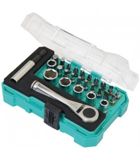 "SD-2318M  27PCS 1/4"" Drive Socket& Screwdriver Set - SD2318M"