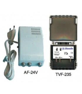 KIT-535 - Kit Manata Amplificador Mastro 2uhf+1vhf + Aliment - KIT535