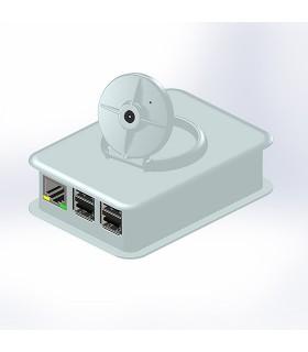 Caixa Branca para Raspberry B+ e B2 com Suporte para Camara - TEK-CAM+.40
